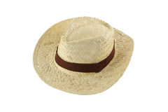 Craft hat brown line Stock Photography