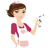Craft hobby girl Stock Image