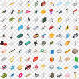 100 craft icons set, isometric 3d style. 100 craft icons set in isometric 3d style for any design vector illustration Royalty Free Stock Photo
