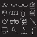 craft icons set of ophthalmology and optometry Royalty Free Stock Photo