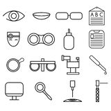 craft icons set of ophthalmology and optometry Stock Photo