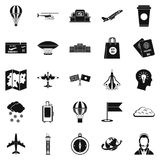 Craft icons set, simple style. Craft icons set. Simple set of 25 craft vector icons for web isolated on white background Royalty Free Stock Photography