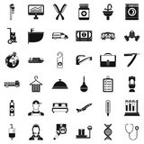 Craft icons set, simple style Stock Photography