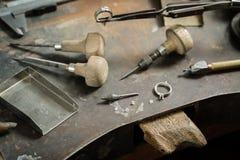 Craft jewellery making. royalty free stock image
