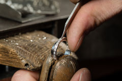 Craft jewellery making. stock image