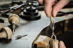 Craft jewellery making. Royalty Free Stock Images