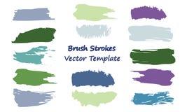 Brush Strokes Vector Template royalty free illustration