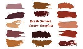 Brush Strokes Vector Template stock illustration