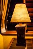 Craft lamp lit Royalty Free Stock Image