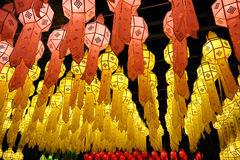 Craft lantern festival in Thailand Stock Image