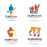 Craft Logo Template Design Vector Royalty Free Stock Image