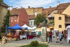 Craft market, Sighisoara, Romania Royalty Free Stock Photography