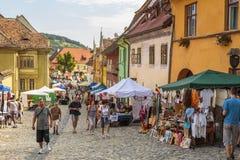 Craft market, Sighisoara, Romania Stock Images
