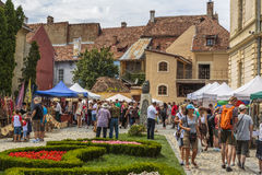 Craft market, Sighisoara, Romania Royalty Free Stock Photos
