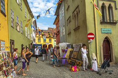 Craft market, Sighisoara, Romania Stock Photography