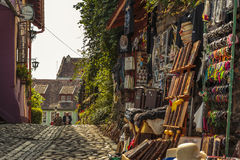Craft market, Sighisoara, Romania Stock Photo