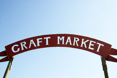Craft market sign Stock Photos