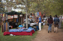 Craft market in Somerset West in the Western Cape Southern Africa. CRAFT MARKET SOMERSET WEST WESTERN CAPE SOUTH AFRICA. Visitors to a craft market in Somerset Stock Image