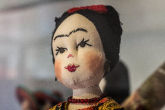 Craft mexican folk art doll frida Royalty Free Stock Photography