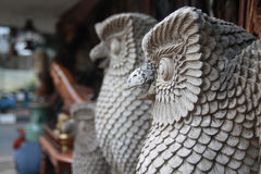Craft Owl Statue Royalty Free Stock Images