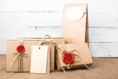 Craft packages Royalty Free Stock Photography