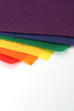 Craft Paper. A stack of brightly colored tissue paper Stock Image