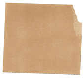Craft paper. The empty part of brown paper on the white background. Good element for your text and design Stock Photography