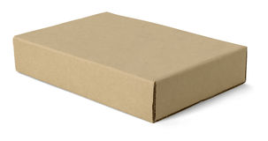 Craft paper box Royalty Free Stock Photos