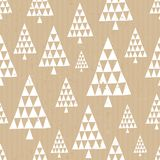 Craft Paper Christmas Pattern Royalty Free Stock Image