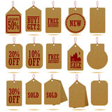 Craft paper hang tag Stock Image