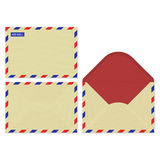 Craft paper set open, front and rear surface of the vector air mail envelops Royalty Free Stock Photography