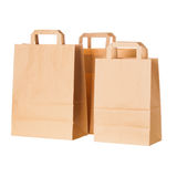 Craft paper shopping bags Royalty Free Stock Images