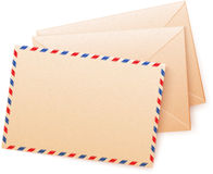 Craft paper vector envelops Royalty Free Stock Photography
