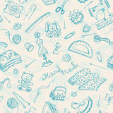 Craft pattern. Handmade items seamless pattern. Hobby background Stock Photos