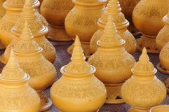 Craft pottery in Thailand Royalty Free Stock Images