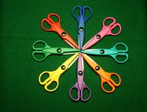 Craft scissors Royalty Free Stock Photos