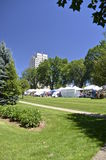 Craft show near Bismarck Capital Building Royalty Free Stock Image