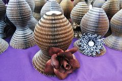 Craft Show. Tables at a Craft Show in Wildwood, New Jersey This is a table of paper hats Stock Photos