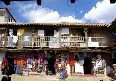 Craft souvenir shop in San Blas, Cusco Royalty Free Stock Image