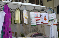 Craft stall in Funchal, Madeira, Portugal Stock Images