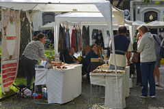 Craft stalls in Funchal, Madeira, Portugal Royalty Free Stock Photography