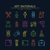Craft supplies icons 2 Stock Photography