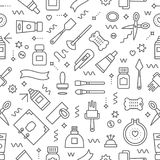 Craft supplies pattern Royalty Free Stock Photo