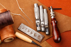 Craft tool for leather accessories Stock Images