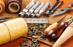 Craft tool for leather accessories Stock Image