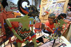 Craft Wayang Puppets Stock Photo