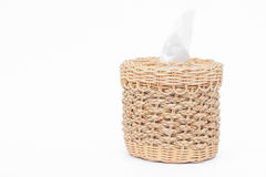 Craft weave tissue paper box Royalty Free Stock Images