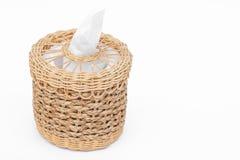 Craft weave tissue paper box Stock Image