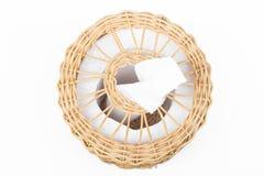 Craft weave tissue paper box Stock Photo