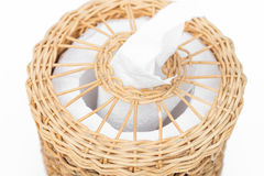 Craft weave tissue paper box Royalty Free Stock Image